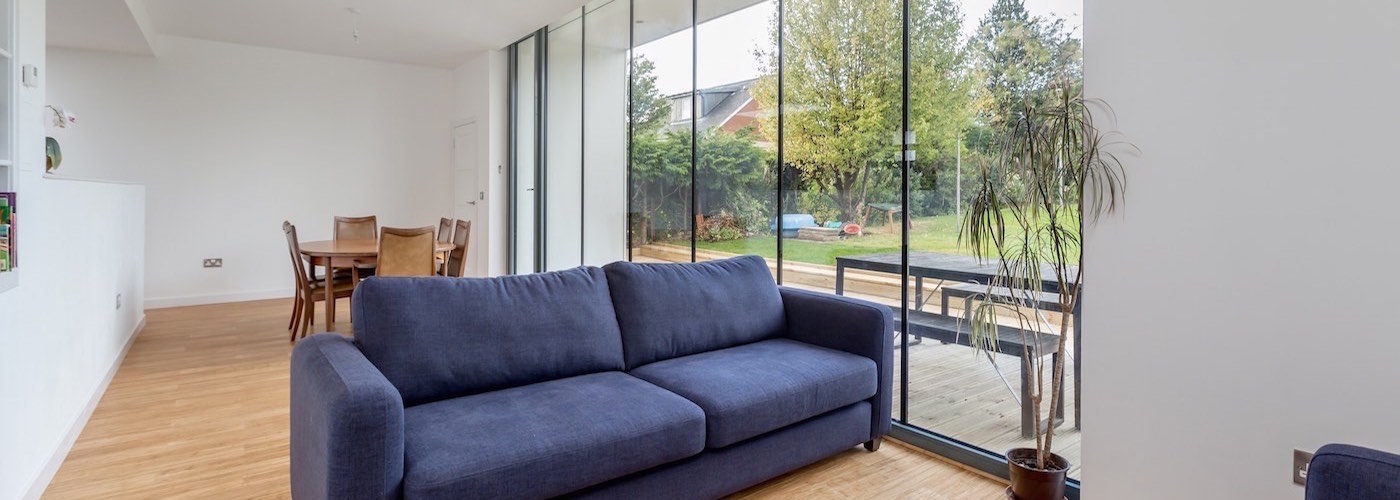 Open plan living overlooking the private rear garden