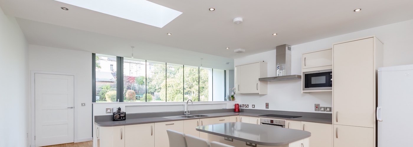 Kitchen with natural light from above